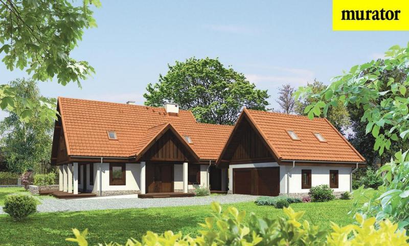 Проект одноэтажного дома с мансардой - Муратор М125а Vm2048 в